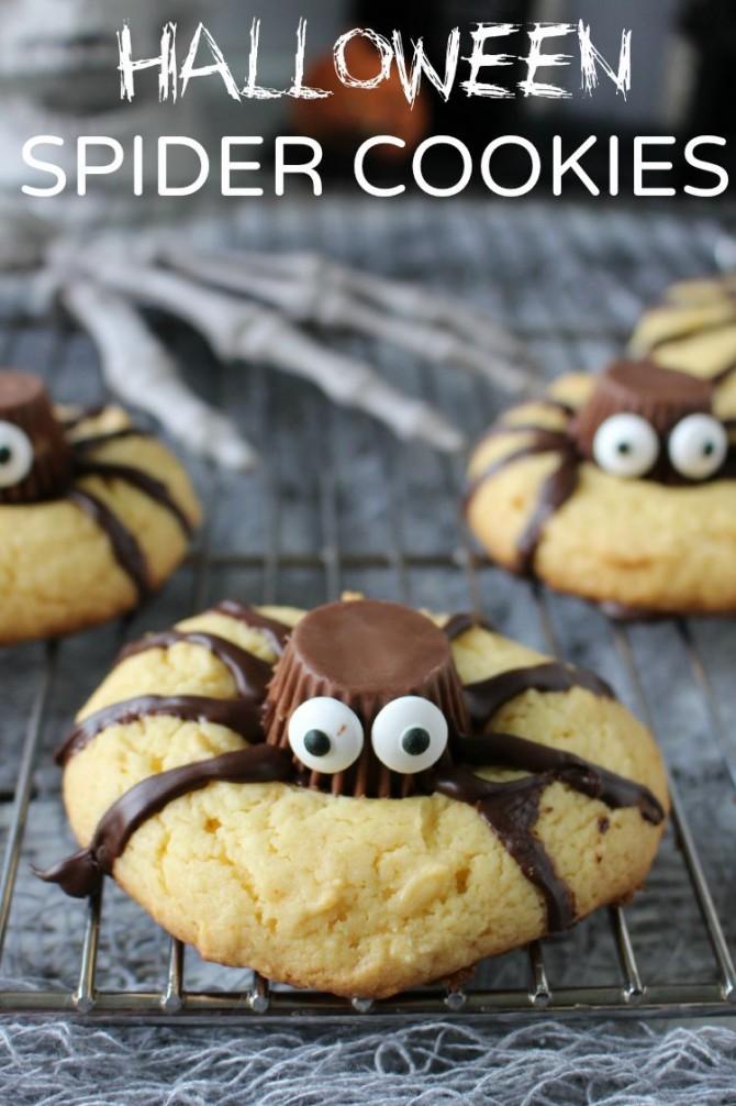 Adorable Halloween Spider Cookies