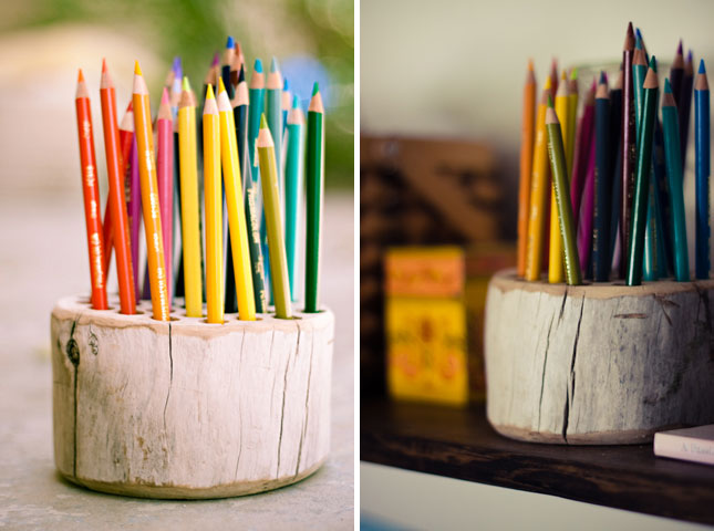 Diy rustic pencil holder fun crafts kids Diy pencil holder for desk