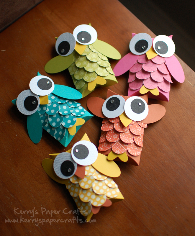 cute owl crafts - TP Roll Pillow Boxes