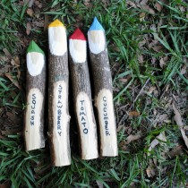 gnome stick plant markers
