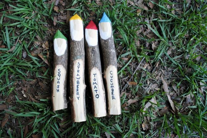 gnome stick plant markers