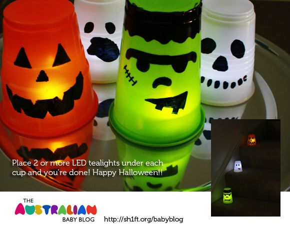 Super Simple Halloween Luminaries (from Plastic Cups)