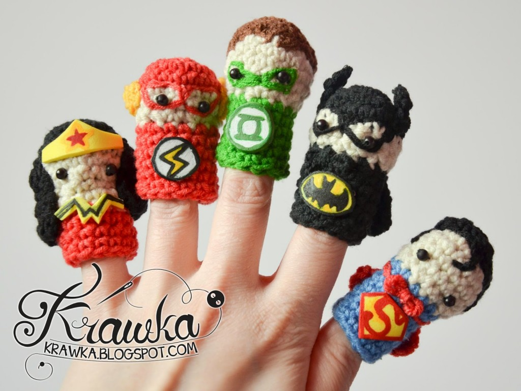 superhero finger puppet pattern