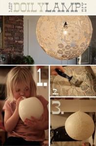 Doily Balloon Lamp