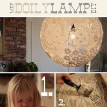Balloon Paper Doily Pendant light