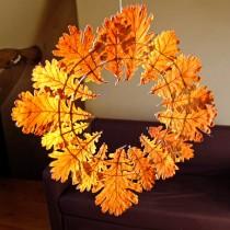 Simple Leaf Wreath for Fall