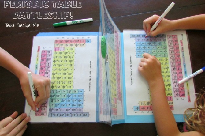 Periodic Table Battle Ships Fun Crafts Kids