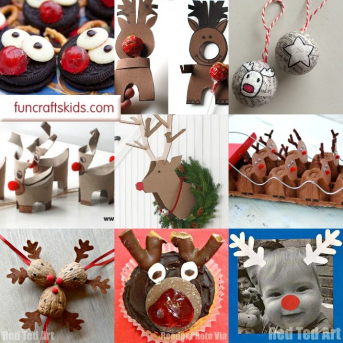 14 Rudolph Crafts for Christmas