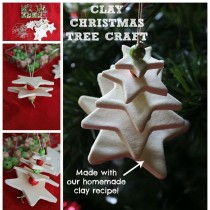White Clay Christmas Tree Craft (3D)