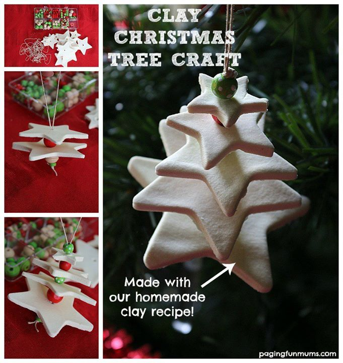 White Clay Christmas Tree Craft 3d Fun Crafts Kids