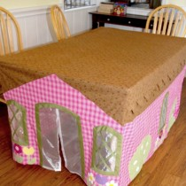DIY Table Cloth House