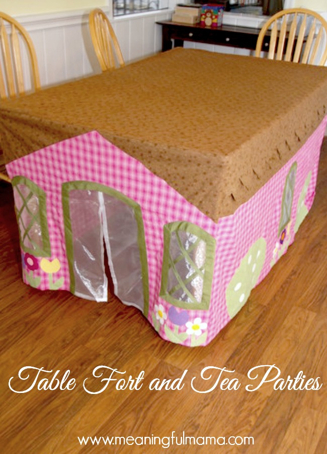 DIY Table Cloth House Tutorial