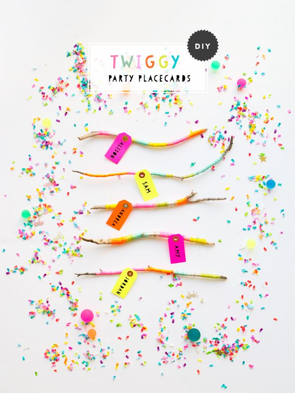 DIY Twiggy Party Placecards