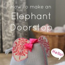 DIY Elephant doorstop