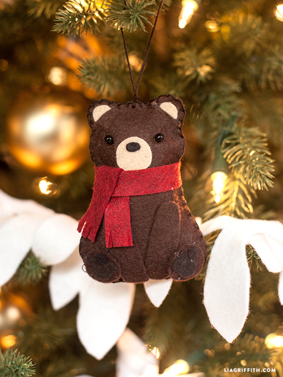Felt Bear Ornament