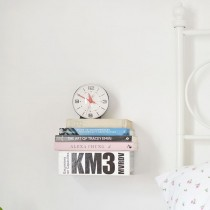 DIY Floating Book Bedside Table