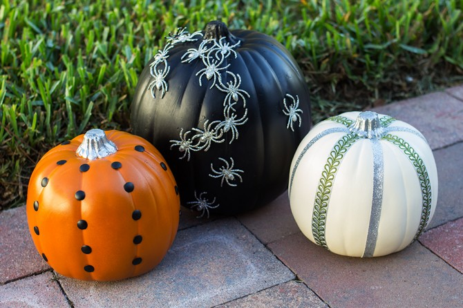 No carve pumpkin fun