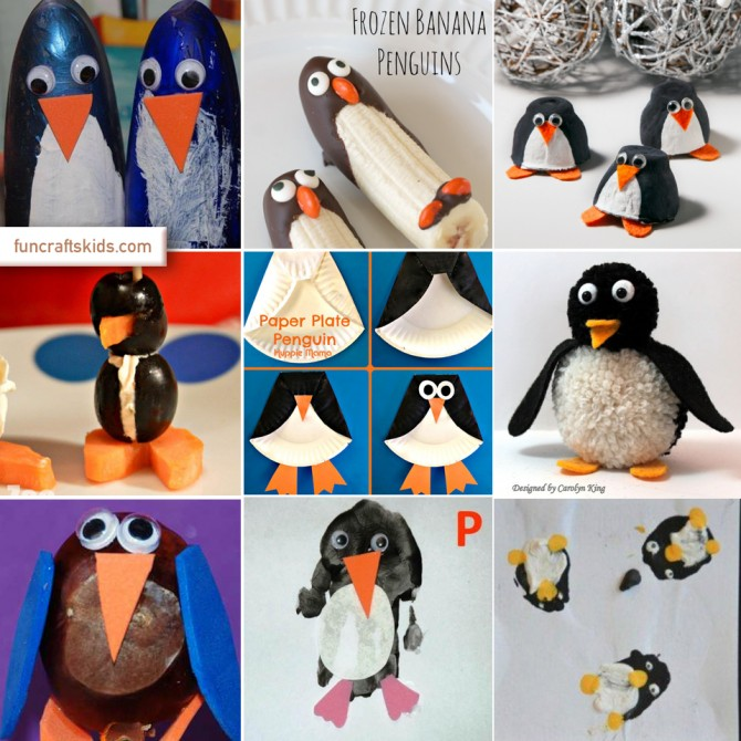 Penguin Crafts Round Up