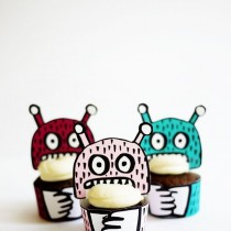 Printable Monster Mini Cupcake Holders