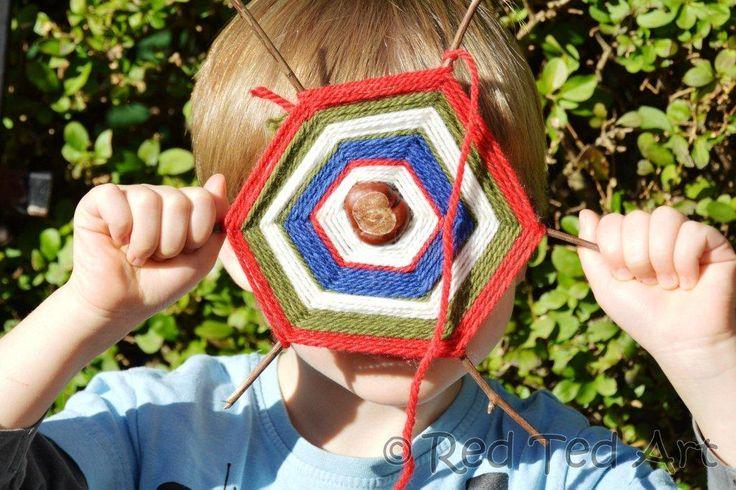chestnuts-crafts-for-kids-spiderwebs