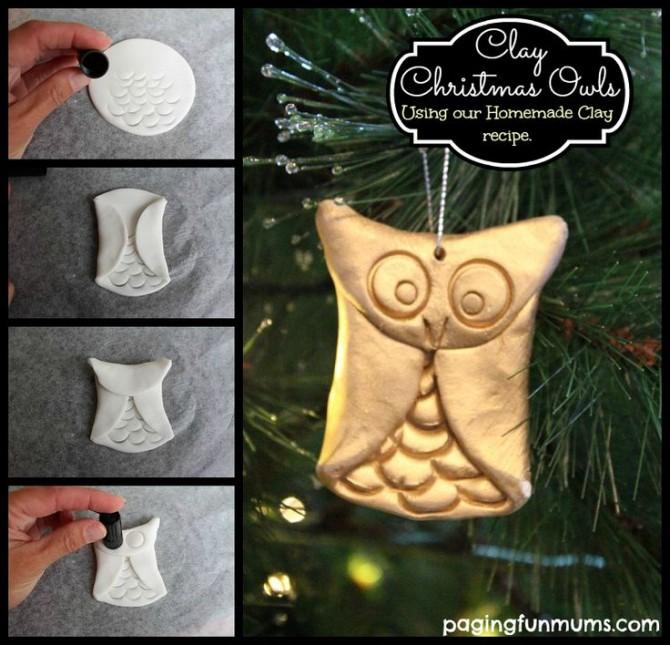 Easy Clay Owls