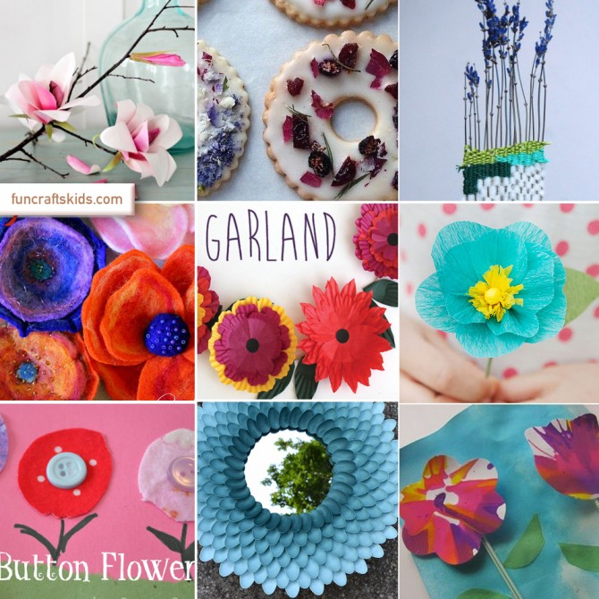 10 fabulous flower crafts – a round up