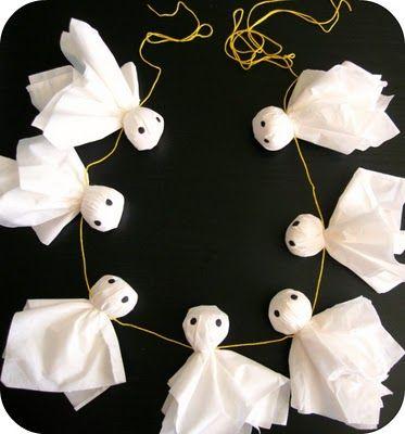 halloween crafts easy ghost garland