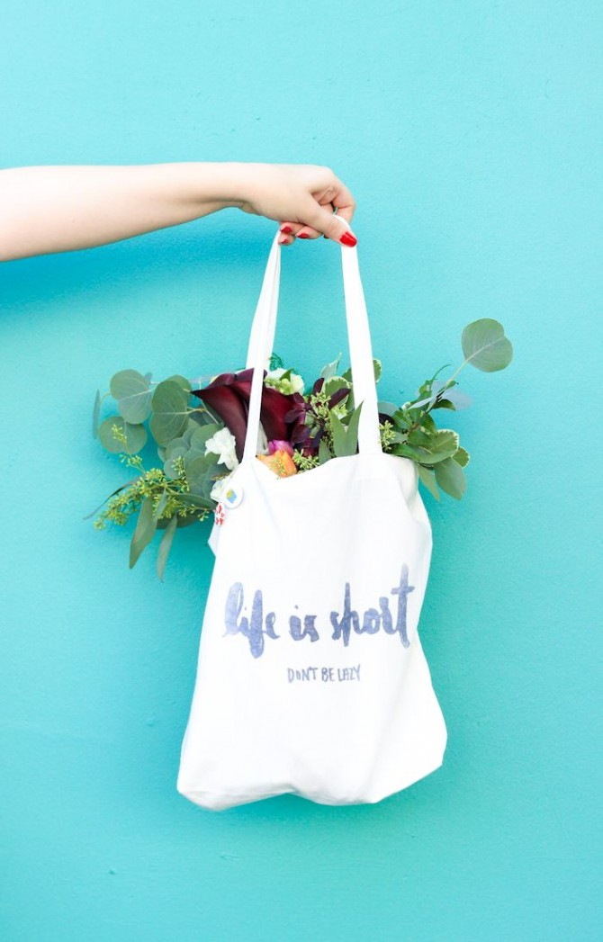 Iron on canvas tote bag