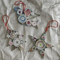Newspaper Christmas Ornaments