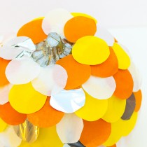 Scalloped Tissue Paper Pumpkins