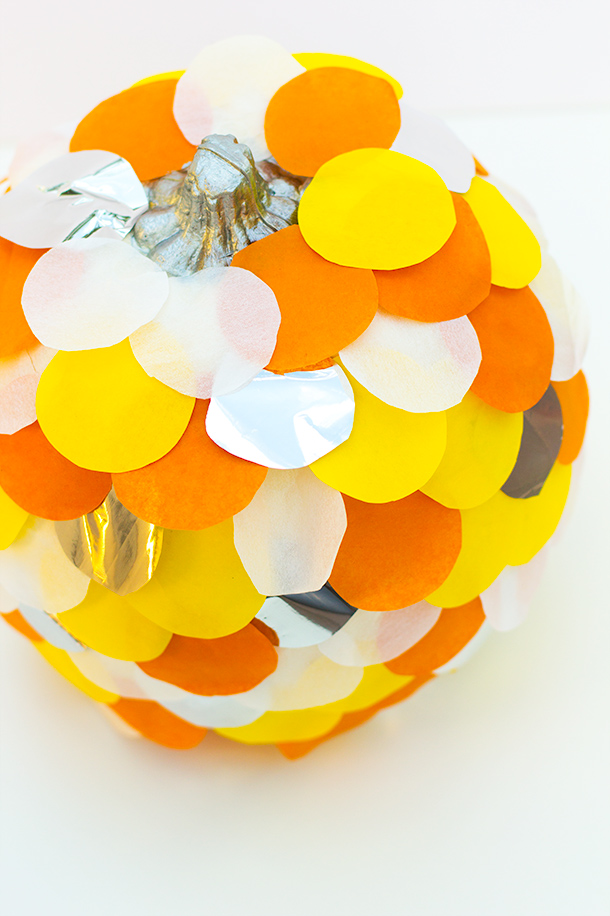 Scalloped Tissue Paper Pumpkins Fun Crafts Kids