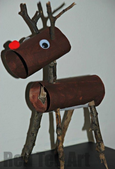toilet-roll-christmas rudolph craft