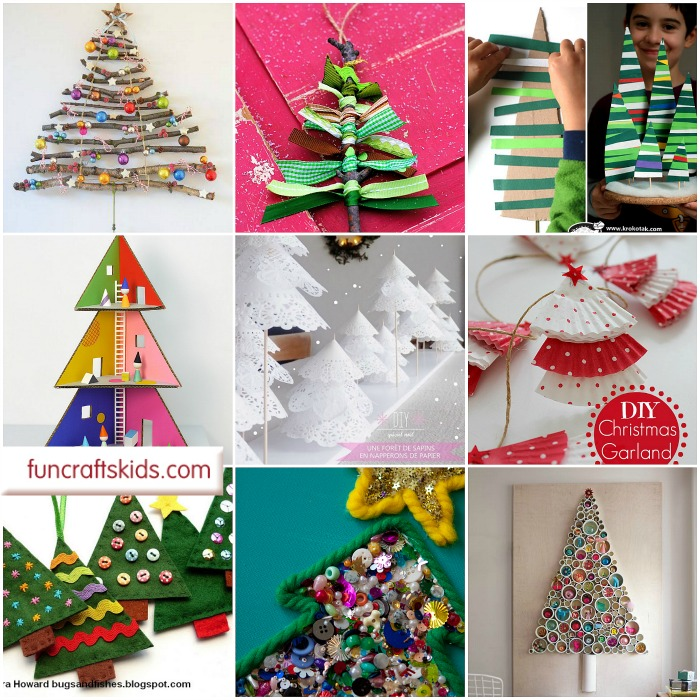 12 gorgeous christmas tree crafts oh christmas tree how we love thee - Childrens Christmas Tree Decorations