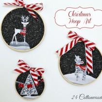 Winter & Christmas Hoop Art