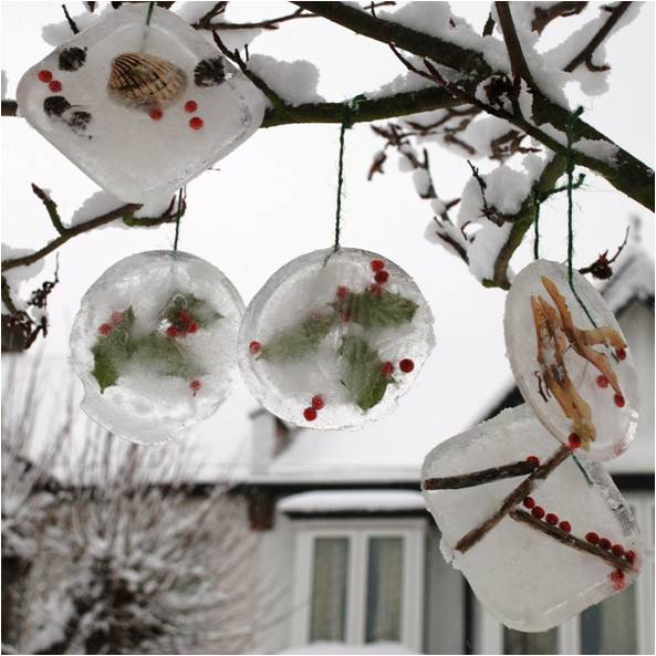 Ice Ornaments - Decorations for outside
