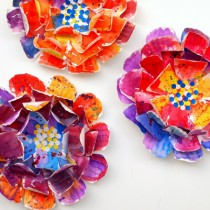 Paper Plate Flowers