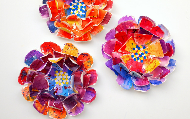 Paper Plate Flowers Fun Crafts Kids