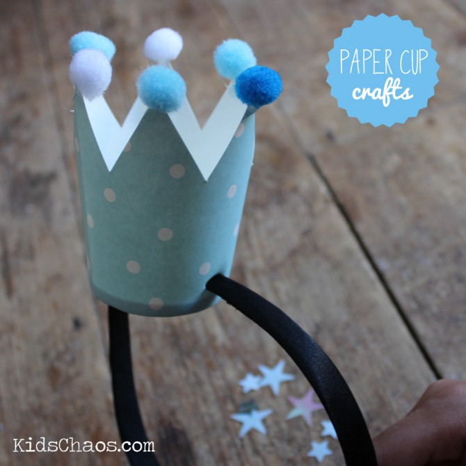 paper cup crown DIY