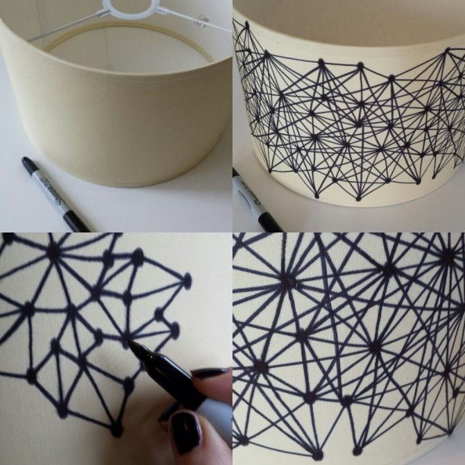 Sharpie Pen Lampshade DIY