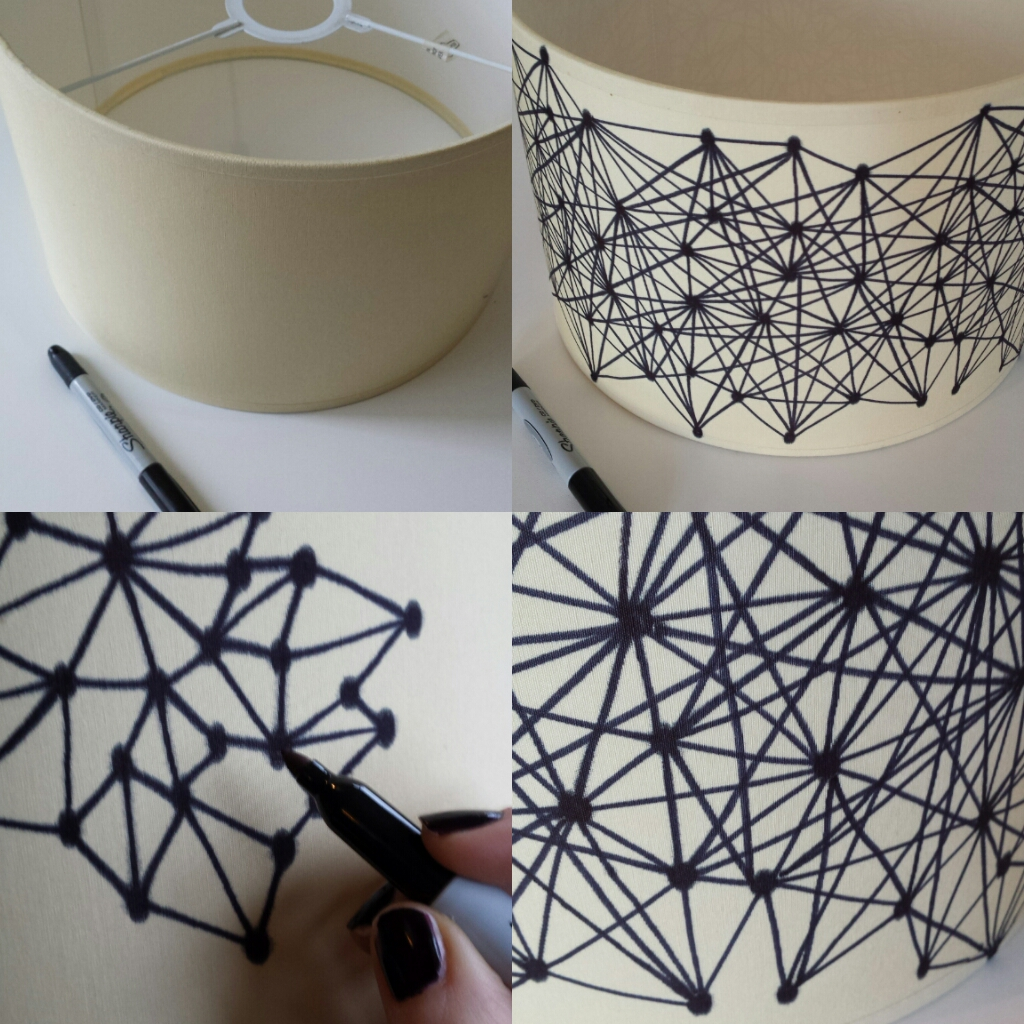 Sharpie Pen Lampshade DIY Fun Crafts