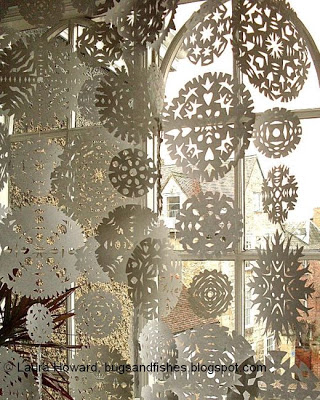 snowflake curtain