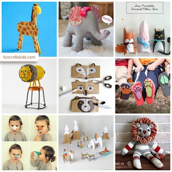 Wild Animals Crafts Round Ups Fun Crafts Kids