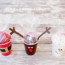 "Easy Christmas ""Cups"" for treats or drinks!"