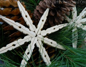clothes peg snowflakes