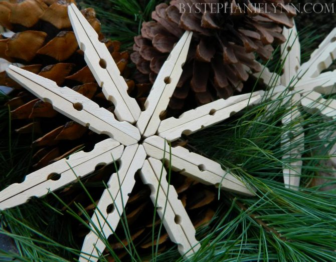 Clothes Peg Snowflake