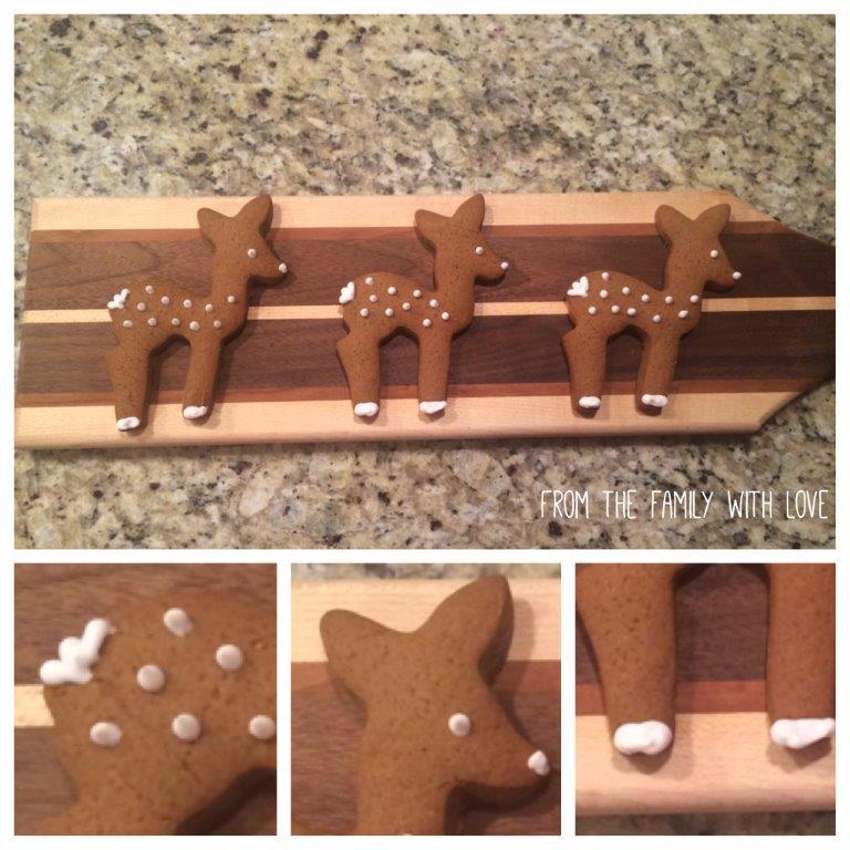 Adorable Gingerbread deer cookies