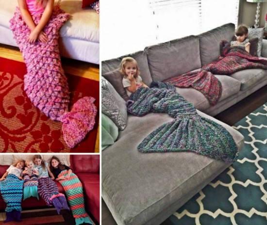Mermaid Blanket Crochet Pattern Fun Crafts Kids