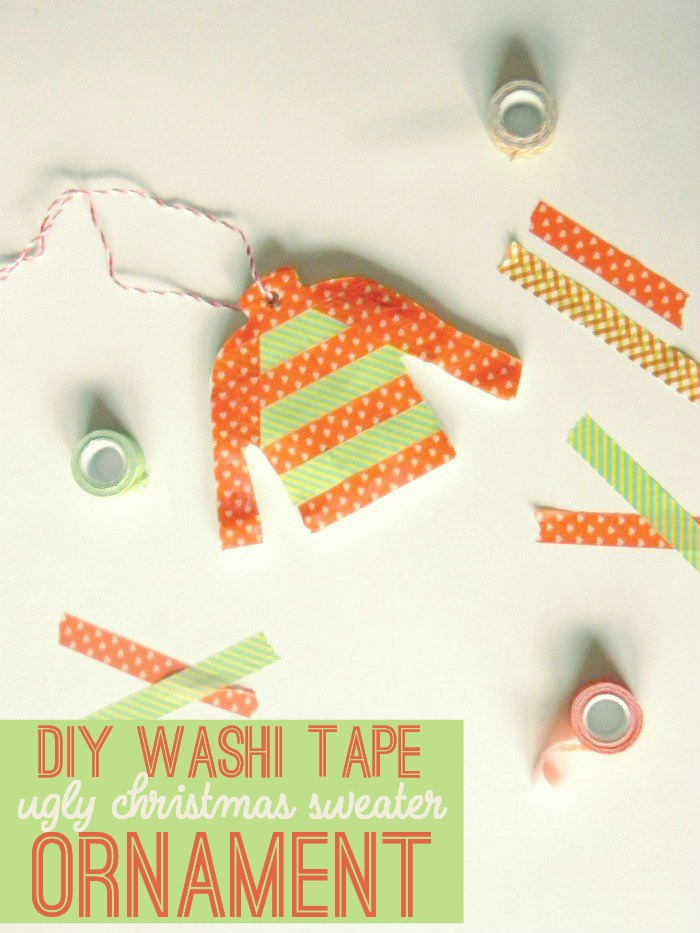 Washi Tape Ornaments and Gift Tags