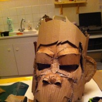 Cardboard Monkey Mask DIY