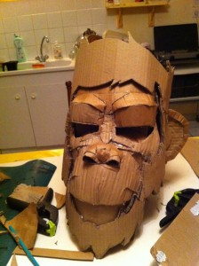 Cardboard Monkey Mask DIY